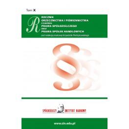 Rocznik orzecznictwa i piśmiennictwa z zakresu prawa spółdzielczego za rok 2019