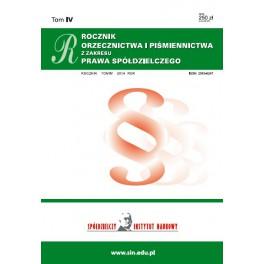 Rocznik orzecznictwa i piśmiennictwa z zakresu prawa spółdzielczego za rok 2012 - 2013